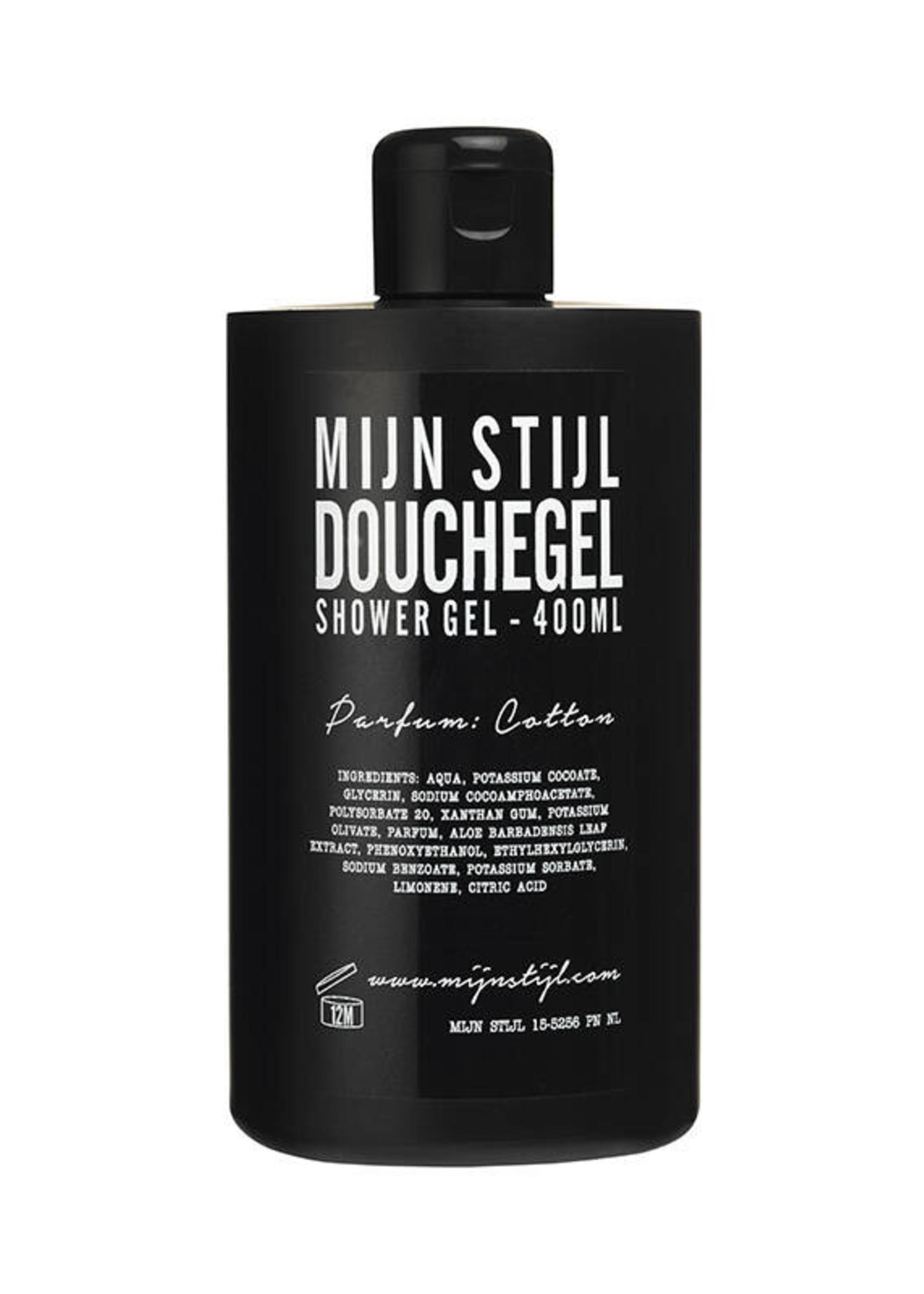 Mijn stijl Douchegel Parfum Cotton 400 ml (zwarte fles)