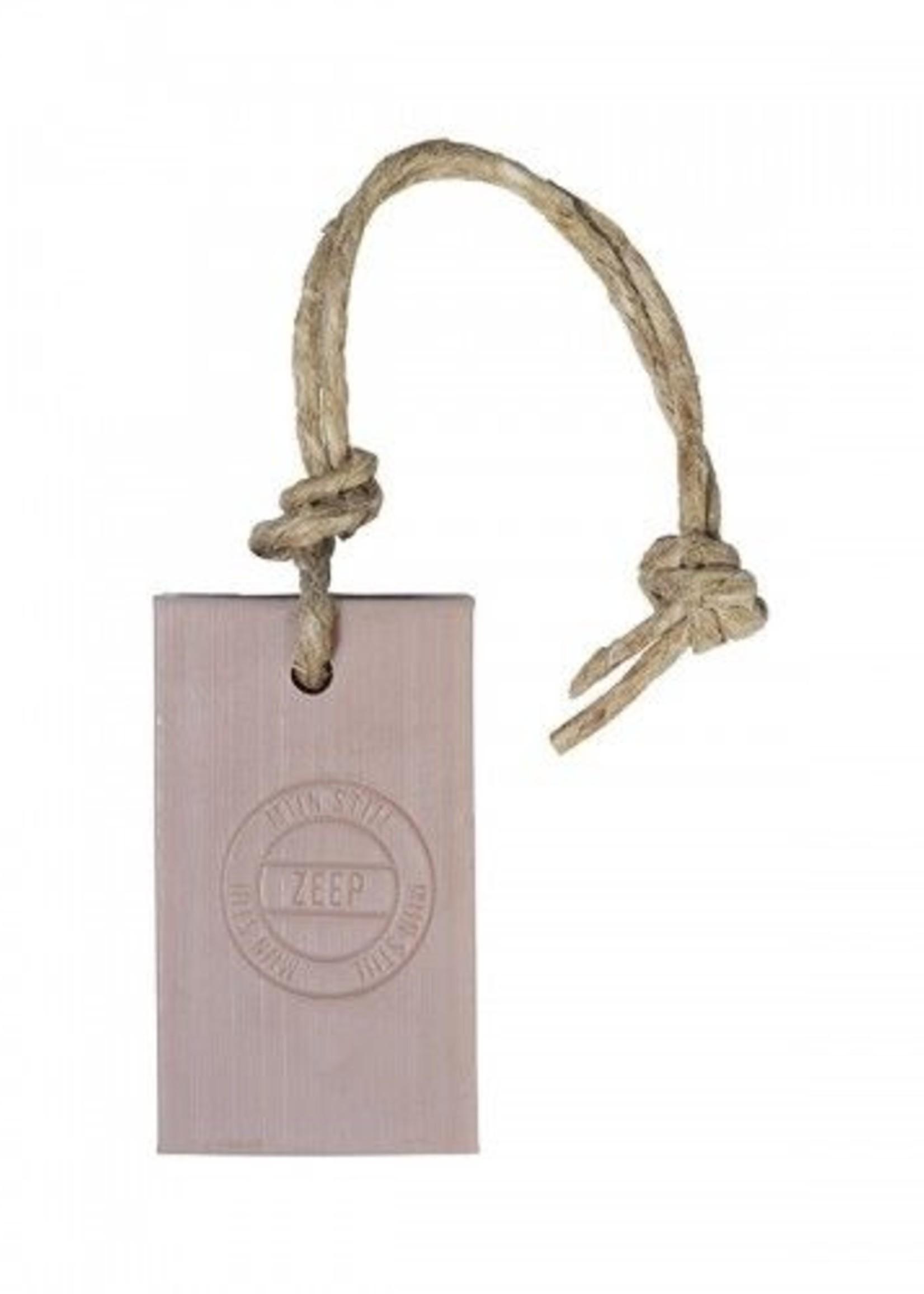 Mijn stijl Zeephanger rechthoek stempel 90 gram Champagne roze parfum Herbal Meleze