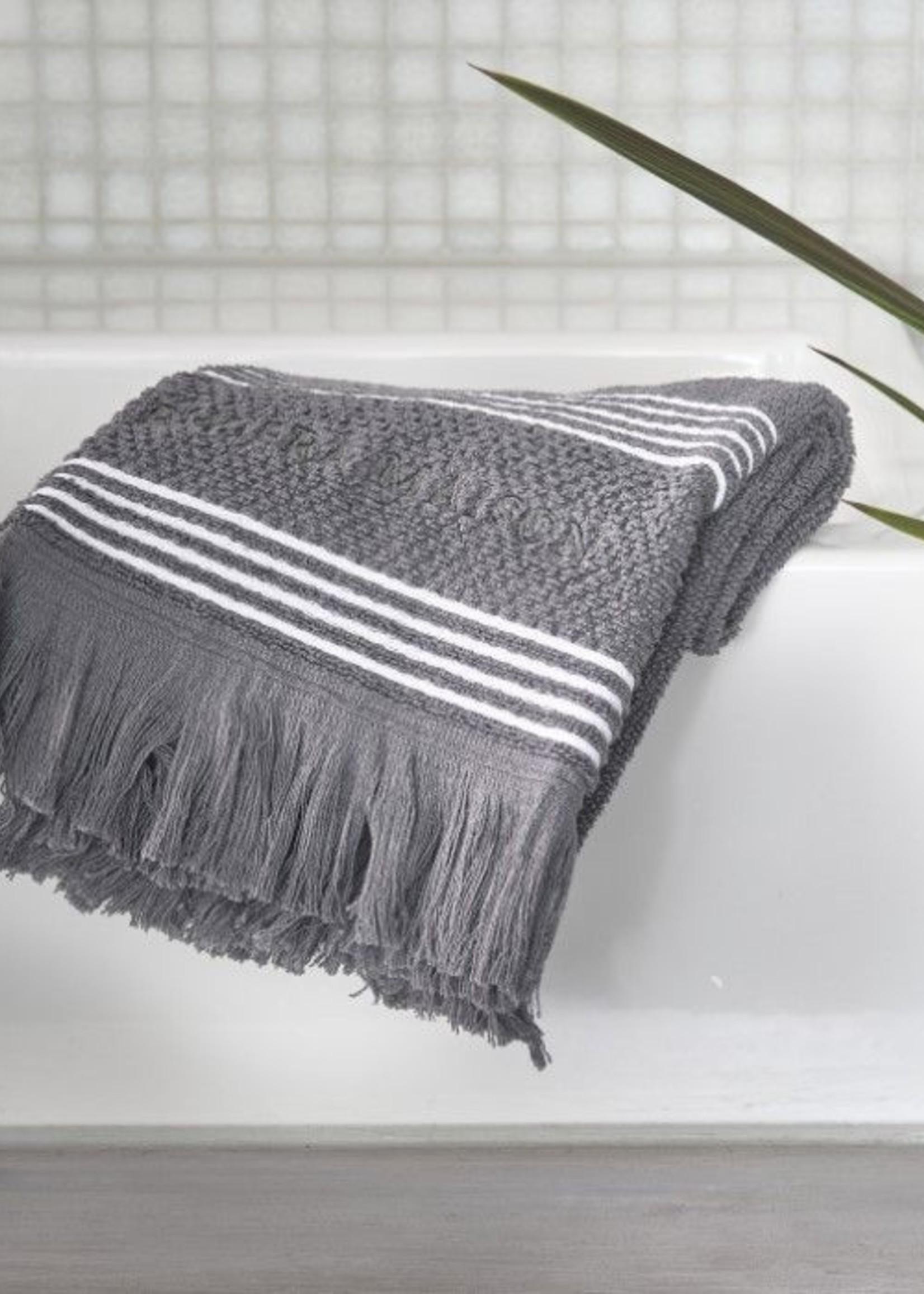 Riviera Maison Serene Guest Towel anthracite 50x30
