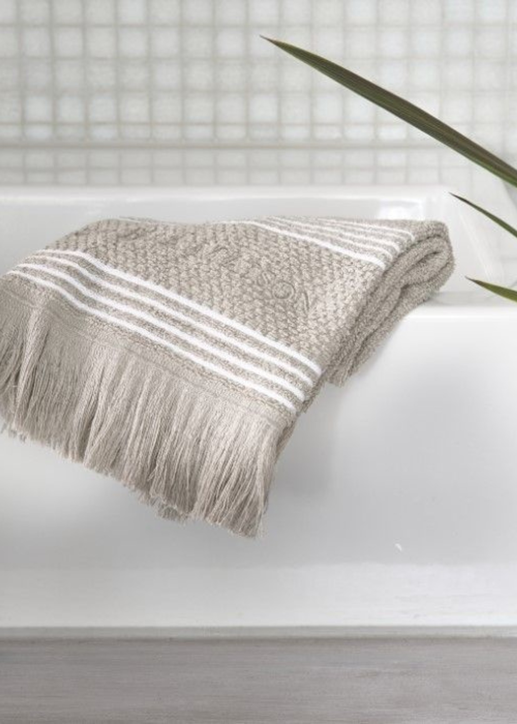 Riviera Maison Serene Guest Towel stone 50x30