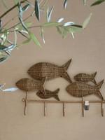 Riviera Maison Rustic Rattan Happy Fish Coat Rack