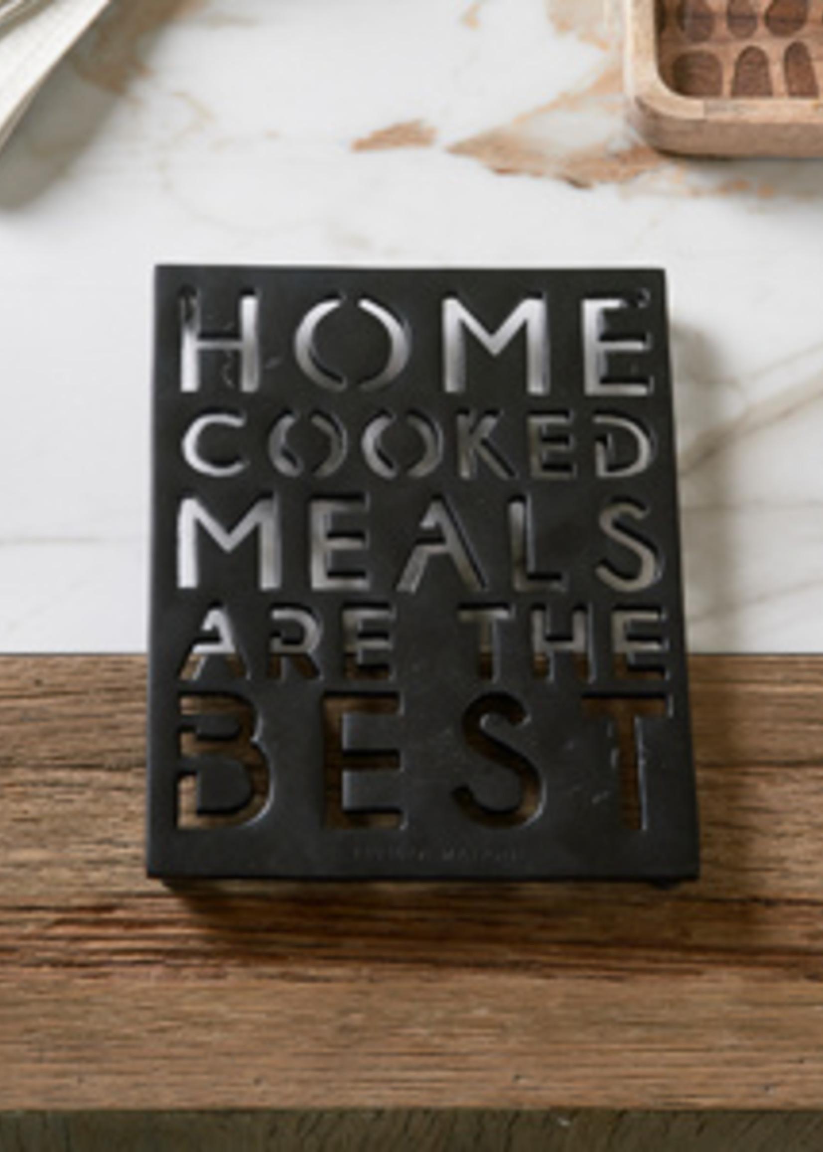 Riviera Maison Home Cooked Meals Trivet black