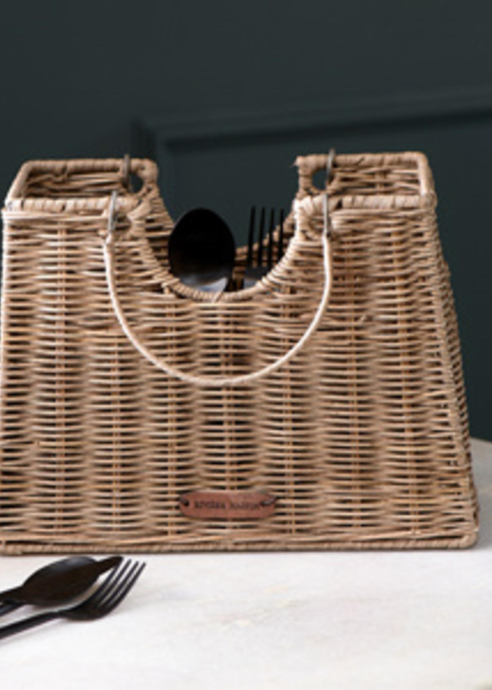 Riviera Maison Rustic Rattan Cutlery Bag