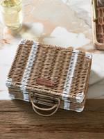 Riviera Maison Rustic Rattan Suitcase Tea Box