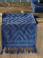 Riviera Maison RM Chic Guest Towel Dark blue 50x30