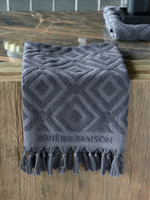 Riviera Maison RM Chic Towel anthracite 100x50