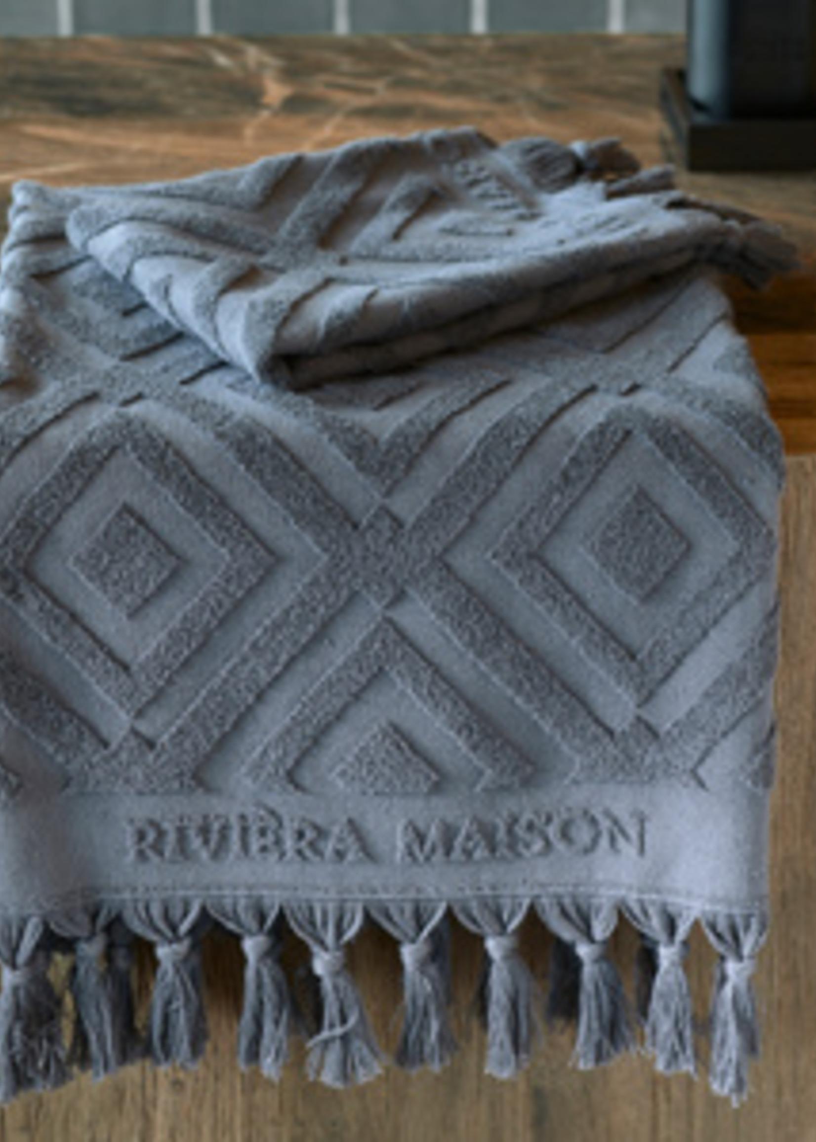 Riviera Maison RM Chic Towel anthracite 140x70