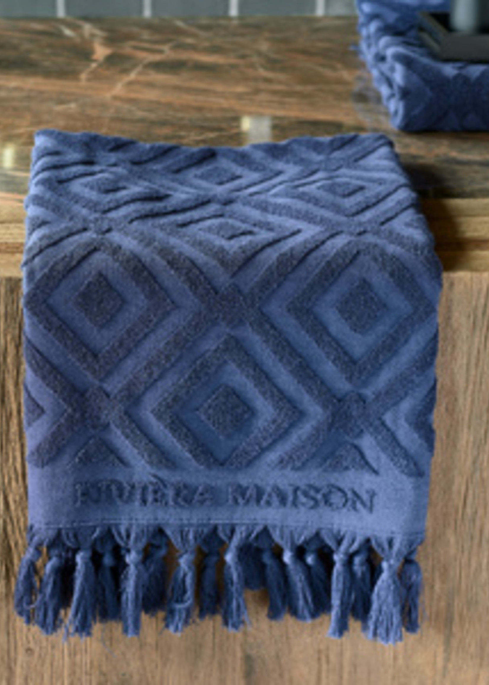 Riviera Maison RM Chic Towel dark blue 100x50