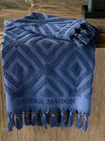 Riviera Maison RM Chic Towel dark blue 140x70