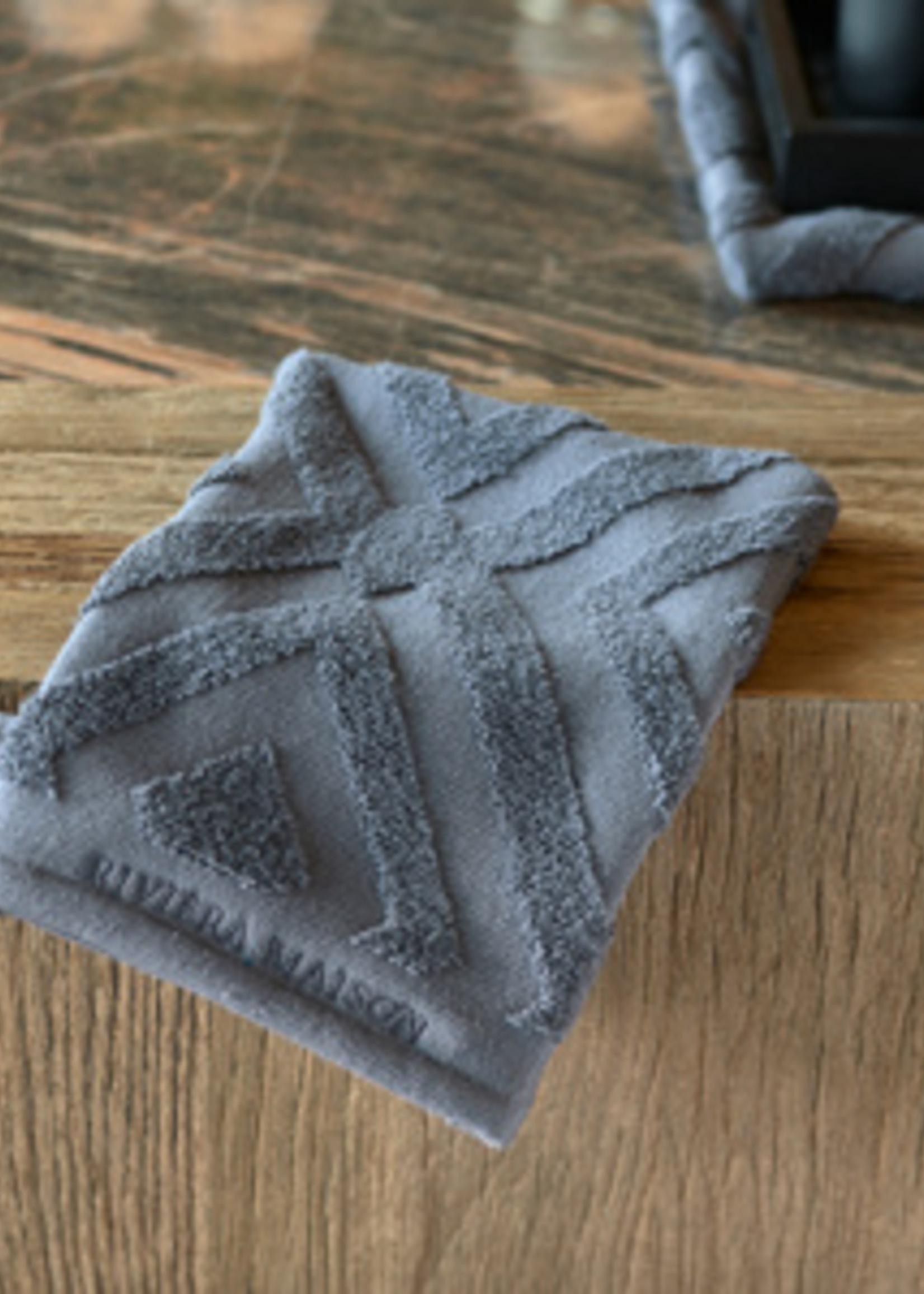 Riviera Maison RM Chic Wash Cloth anthracite