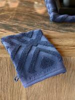 Riviera Maison RM Chic Wash Cloth dark blue