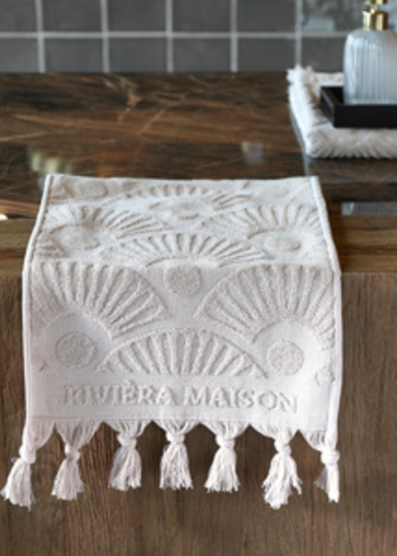 Riviera Maison RM Wave Guest Towel sand 50x30
