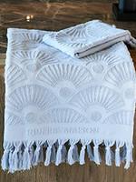 Riviera Maison RM Wave Towel light blue 140x70