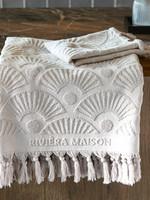 Riviera Maison RM Wave Towel sand 140x70
