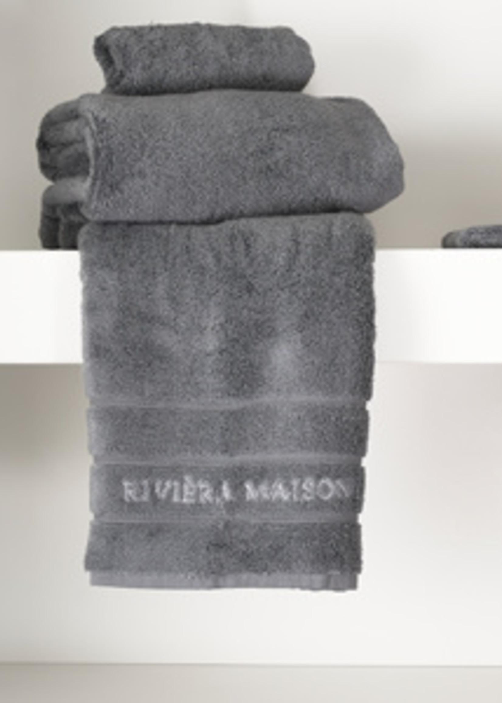 Riviera Maison RM Hotel Towel anthracite 100x50