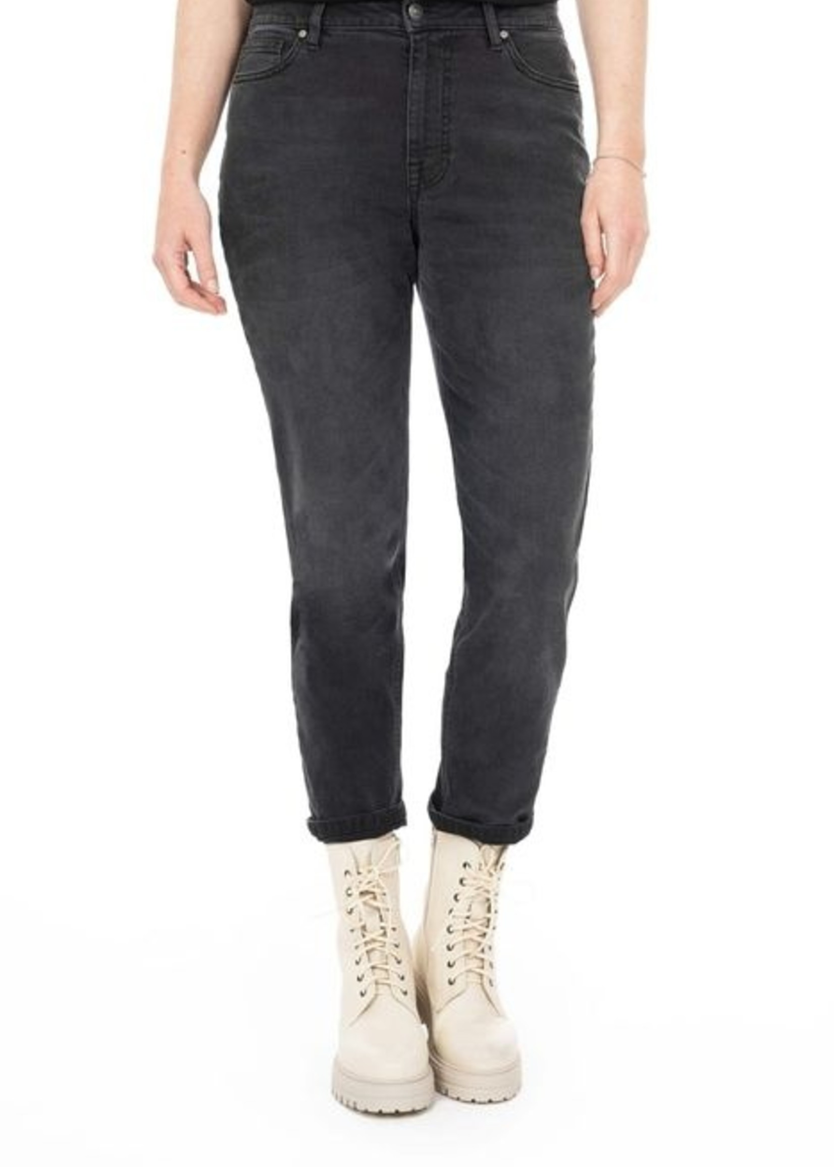 Zusss Mom Jeans Off Black M