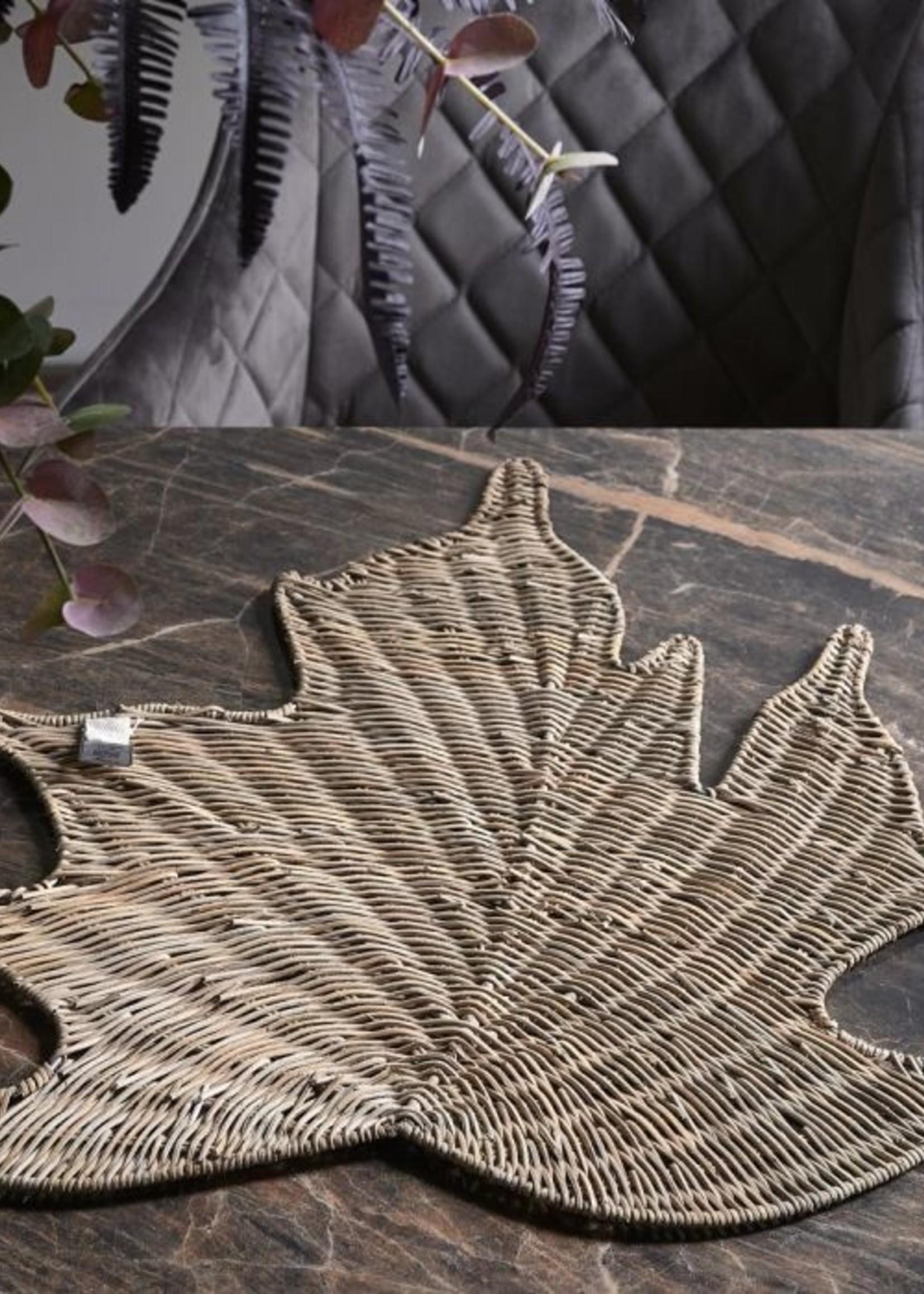 Riviera Maison Rustic Rattan Maple Leaf Placemat