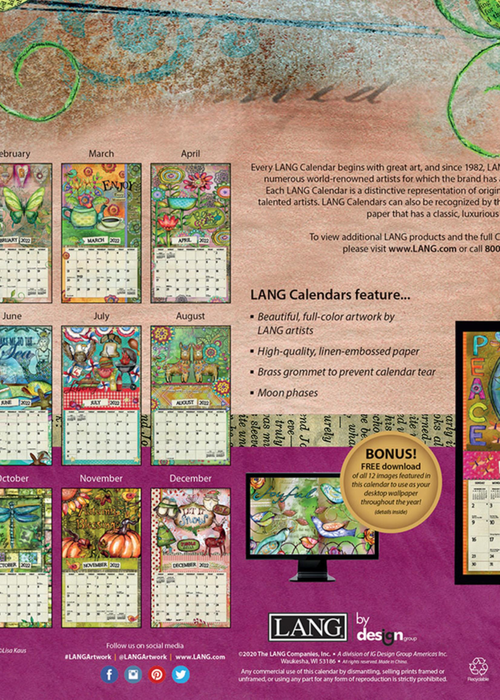 Color my world Calendar 2022