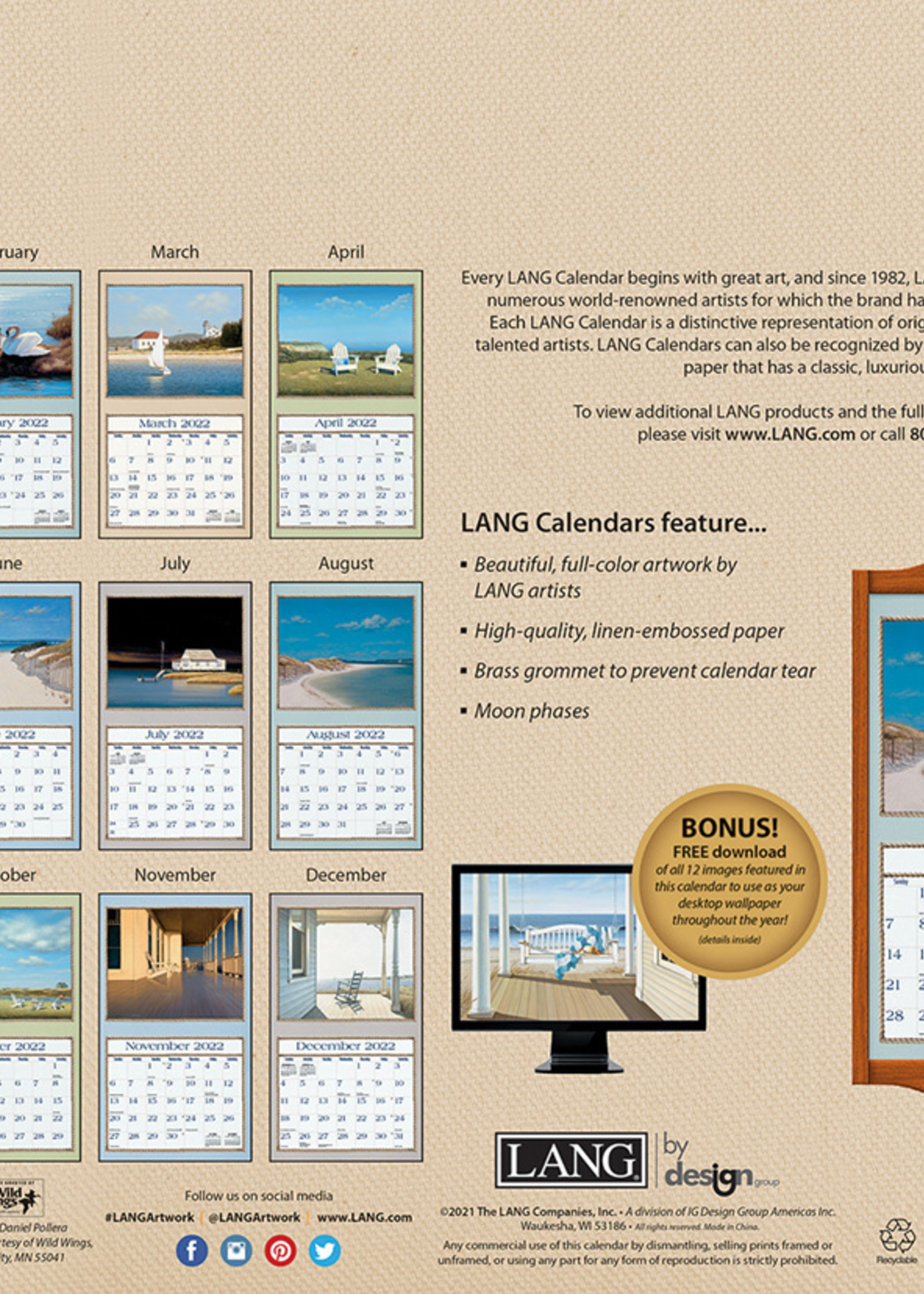 Seaside Calendar 2022
