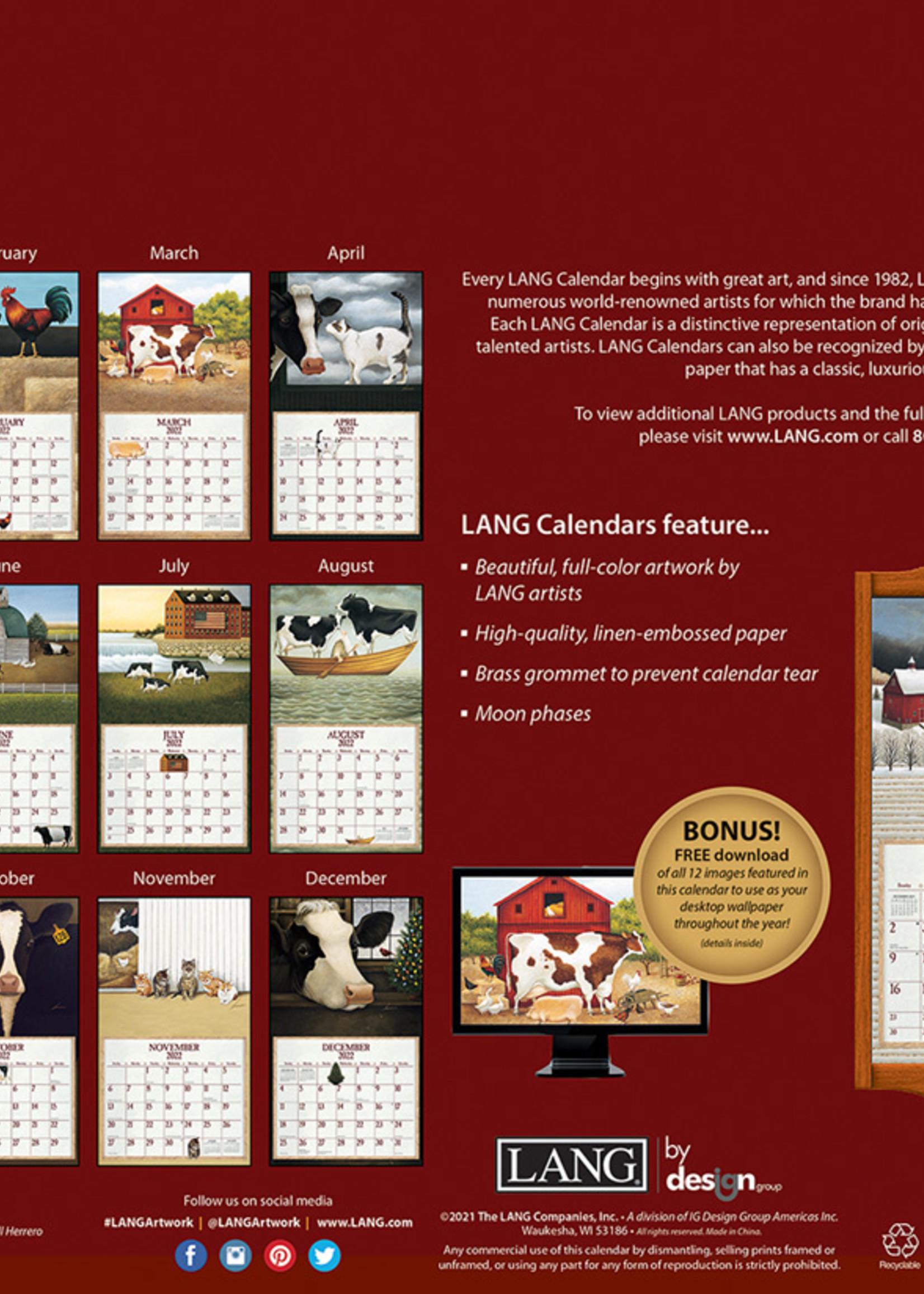 Cows Cows Cows Calendar 2022