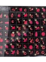 Zentrada Glazen miniboomdecoratie 4 cm, bordeauxrood, doos