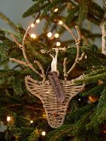 Riviera Maison Rustic Rattan Rudolph Ornament