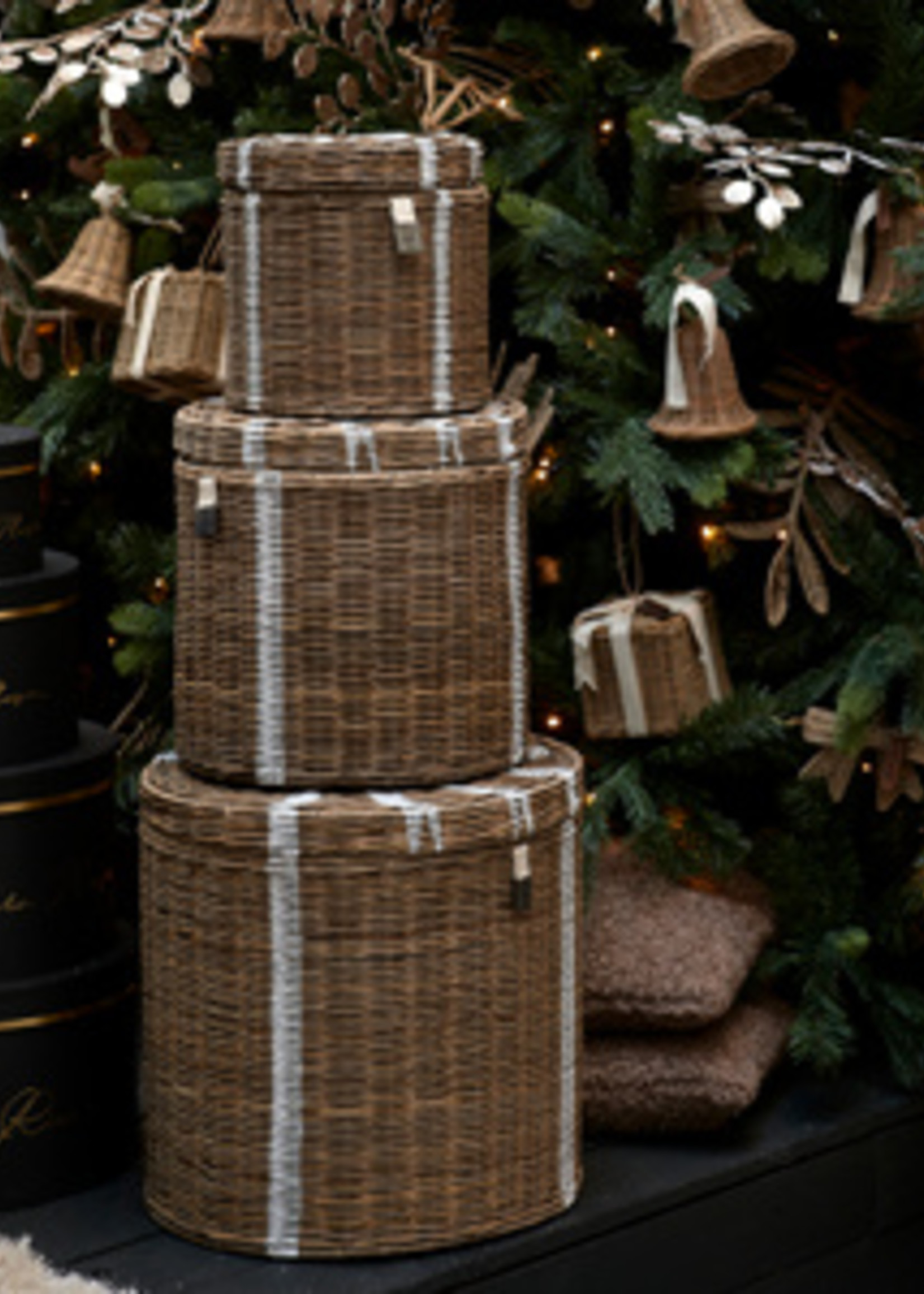 Riviera Maison RR Gift Basket Set Of 3 pieces