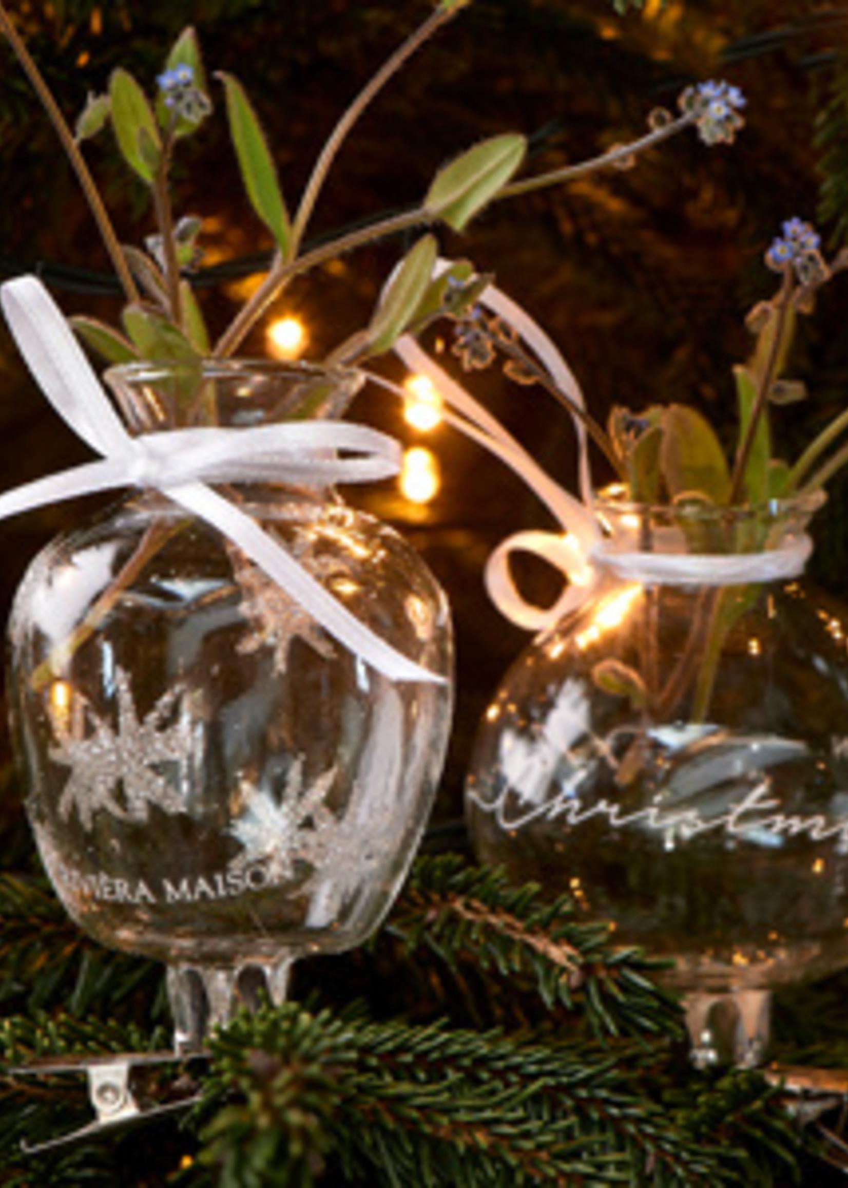 Riviera Maison Merry Christmas Mini Vases 2 pieces