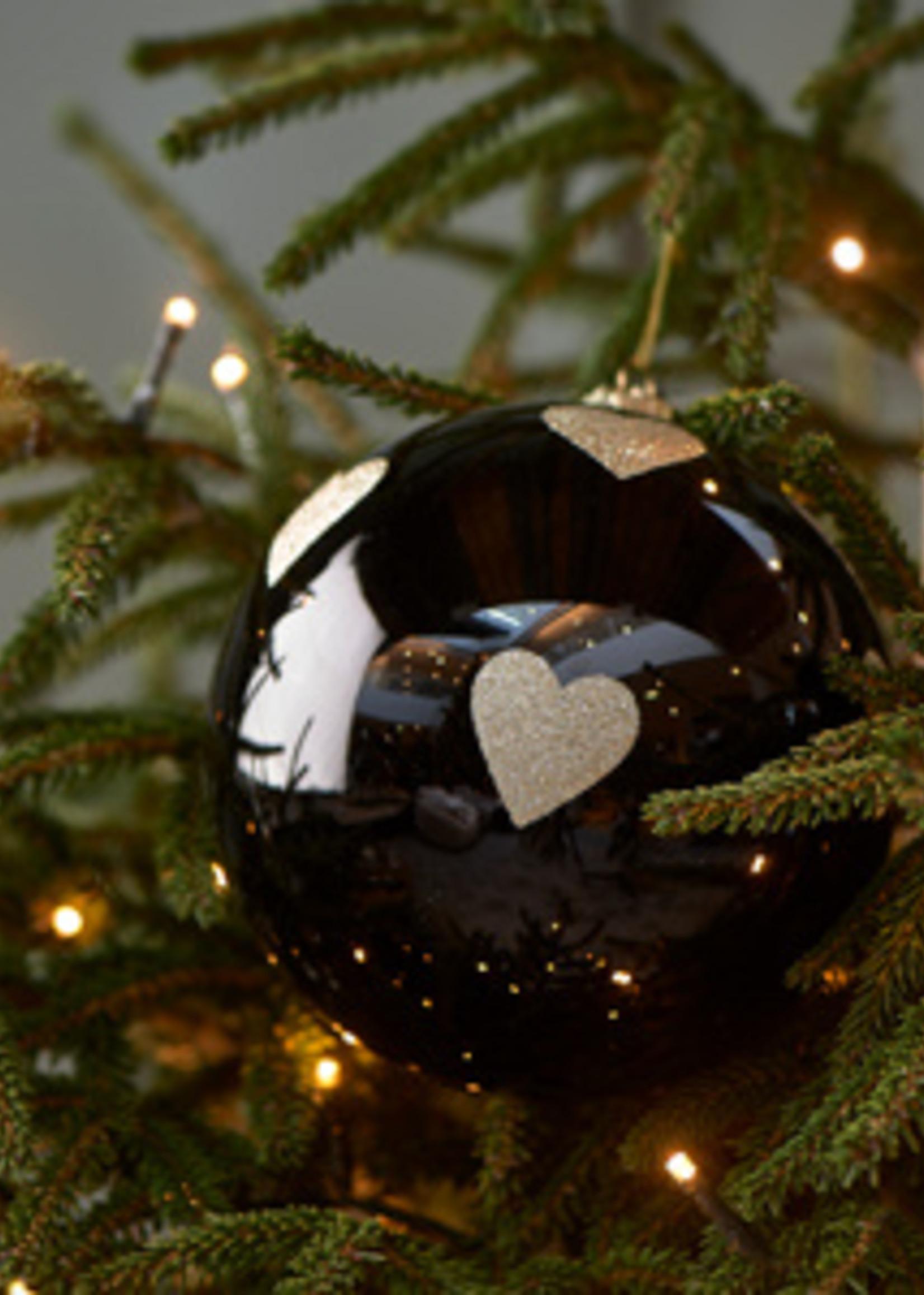 Riviera Maison Lovely Hearts Ornament black Dia 15