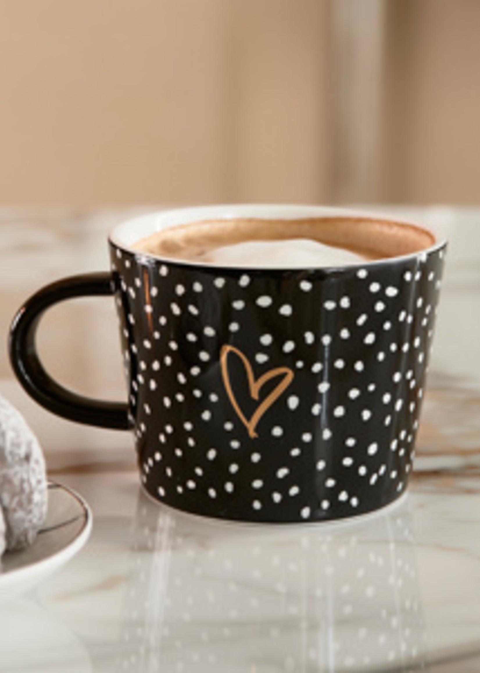 Riviera Maison Dots & Stripes Heart Mug