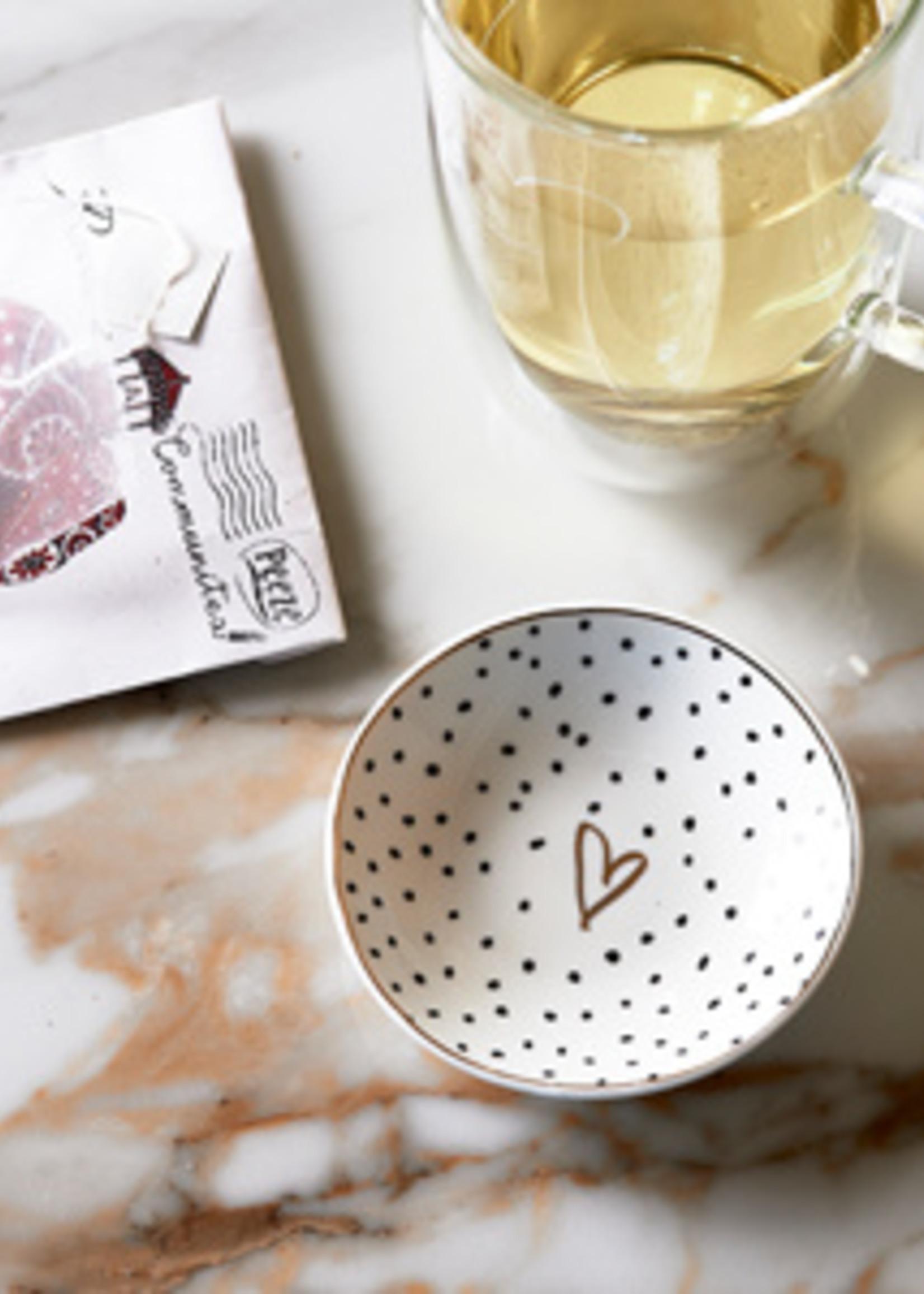Riviera Maison Dots & Stripes Heart Side Plate