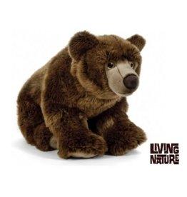 Living Nature Bruine beer knuffel groot