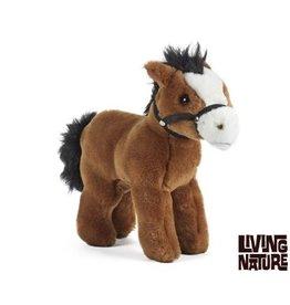 Living Nature Knuffel Paard met teugels