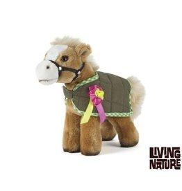 Living Nature Knuffel Paard met dekje