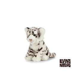 Living Nature Knuffel Witte Tijger