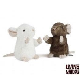 Living Nature Knuffel Muis, 2 stuks