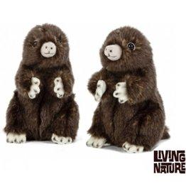 Living Nature Knuffel Mol, 2 stuks