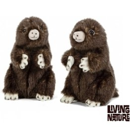 Living Nature Knuffel Mol, 2 tuks