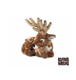 Living Nature Knuffel Hert met gewei