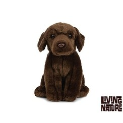 Pluche Labrador chocoladebruin