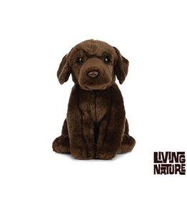 Living Nature Pluche Labrador chocoladebruin
