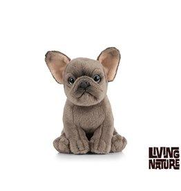 Living Nature Pluche Bulldog, 15 cm