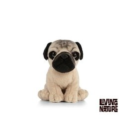 Living Nature Mopshond Knuffel Hondje