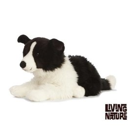 Living Nature Border Collie knuffel groot, 60 cm