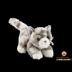 Spelende Pluche Kat Grijs, 20 cm