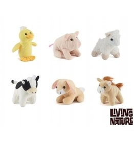 Living Nature Boerderij Mini Knuffels, 24 stuks
