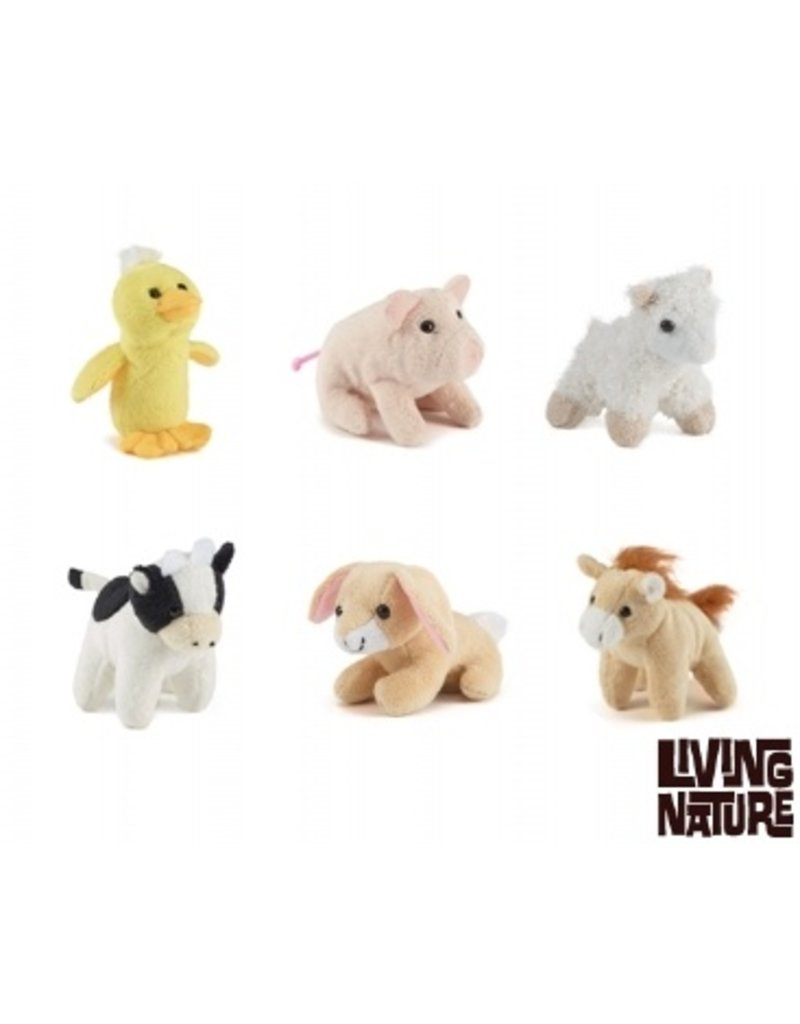 Verwonderend Boerderij Mini Knuffels, Living Nature - Living-Animals.com VZ-11