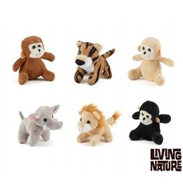 Living Nature Jungle Mini Knuffels, 24 stuks