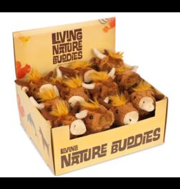 Living Nature Mini Higlander Knuffel, 12 stuks