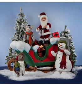 MultiAnimation Bewegende Kerstman dansend met vrienden
